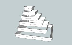 Ziggurat Planter - Corner